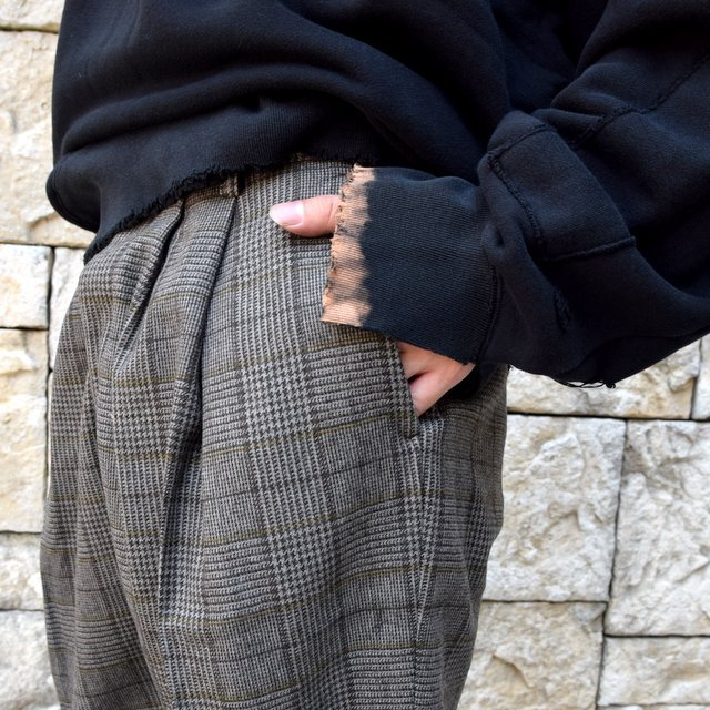 【2020】stein(シュタイン)/ WIDE TAPERED TROUSERS -GLEN CHECK- #ST178-2(7)