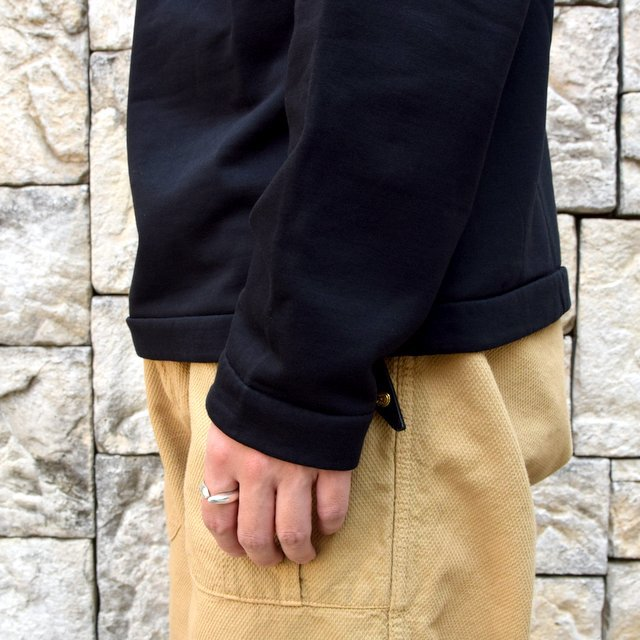 AURALEE(オーラリー)/ ELASTIC HIGH GAUGE SWEAT HALF ZIP P/O -BLACK- #A20AP01NU(7)