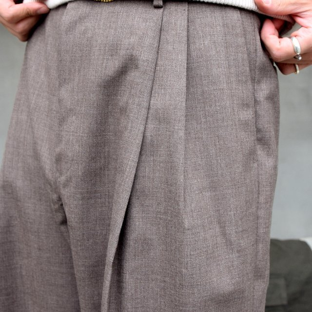AURALEE(オーラリー)/ BLUEFACED WOOL WIDE SLACKS -TOP BROWN- #A20AP03BH(7)