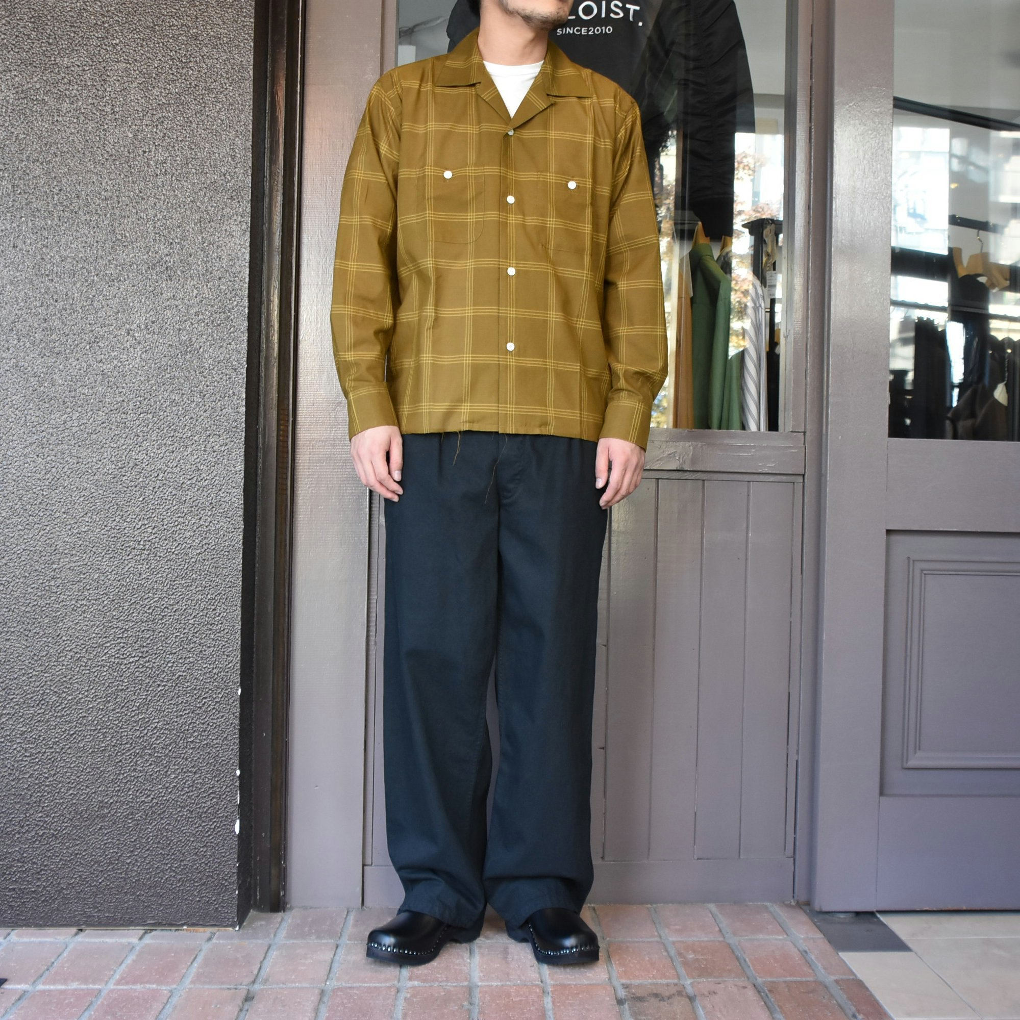 [2021]NEEDLES(ニードルス) C.O.B. ONE-UP SHIRT C/S PLAID -BROWN-#IN170(7)
