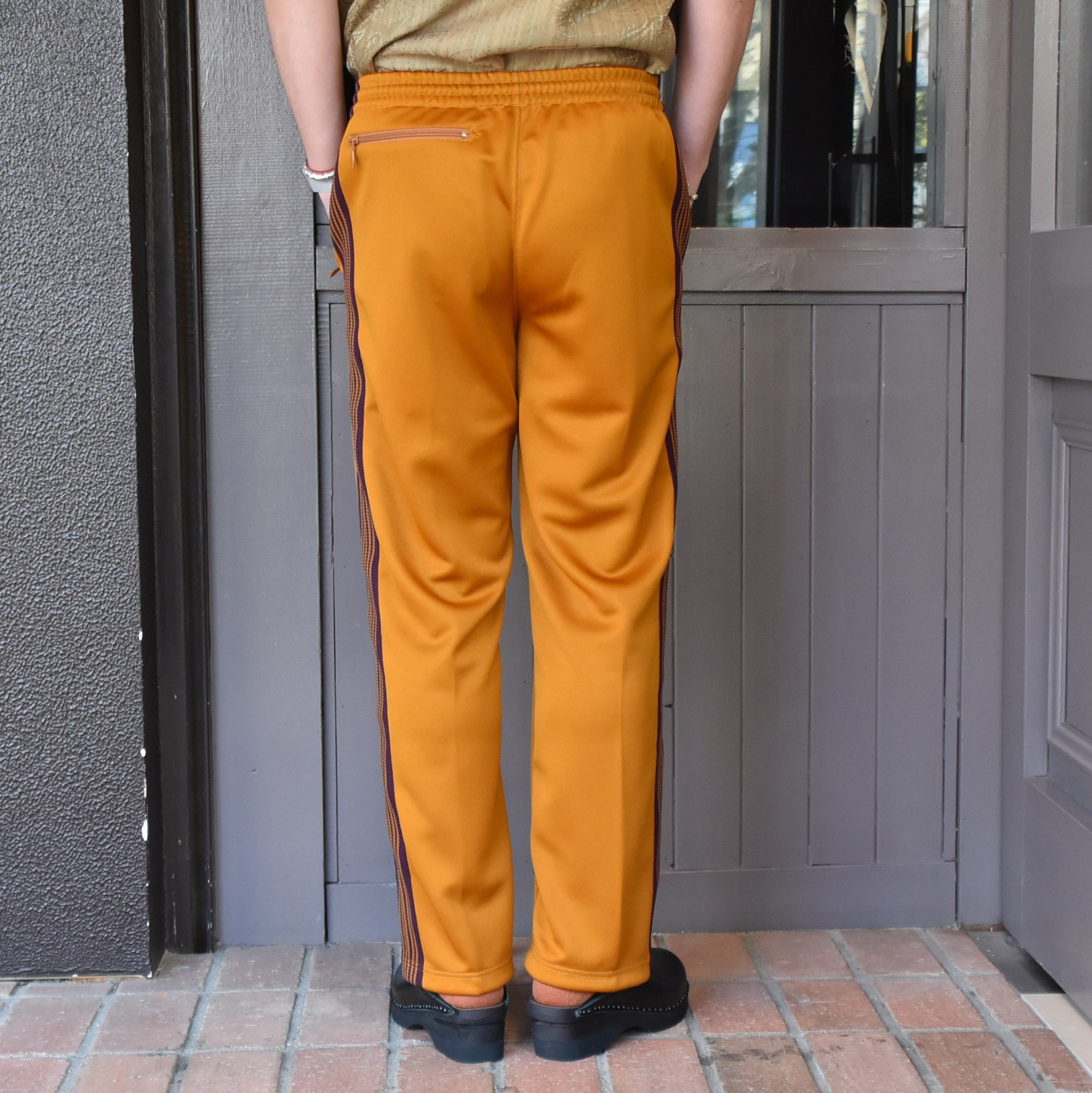 [2021]NEEDLES(ニードルス) TRACK PANT POLY SMOOTH -MUSTARD- #IN181(7)