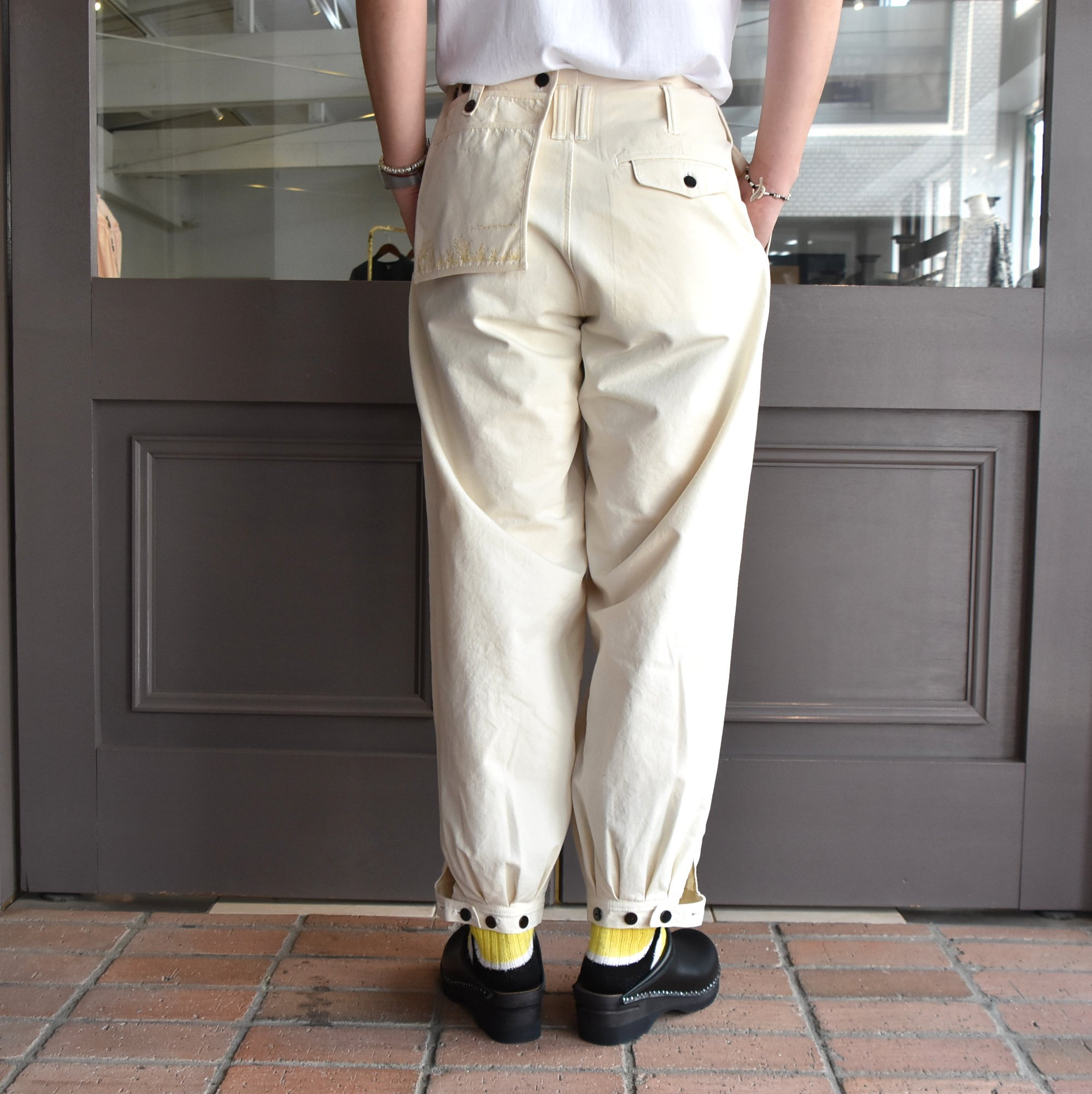 [2021]amachi.(アマチ) DetachablePocket Work Pants-Off White- #AY8-22(7)