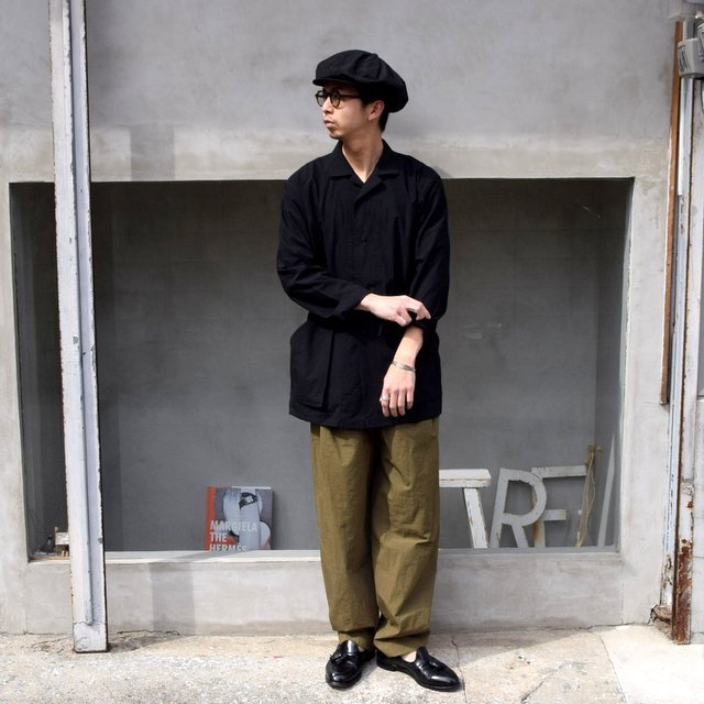 FRANK LEDER(フランクリーダー)/ 2TUCK DRAWSTRING TROUSERS WITH SEED(7)