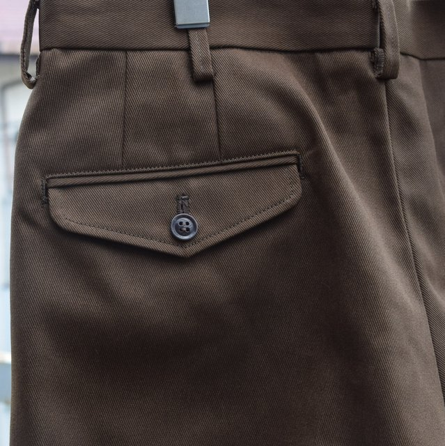BROWN by 2-tacs (ブラウンバイツータックス)/ Straight slacks -BROWN- B25-P005(7)