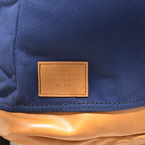 Altadena Works(アルタデナワークス) 801 Daypack(canvas) -Navy Acorn- 【Z】(8)