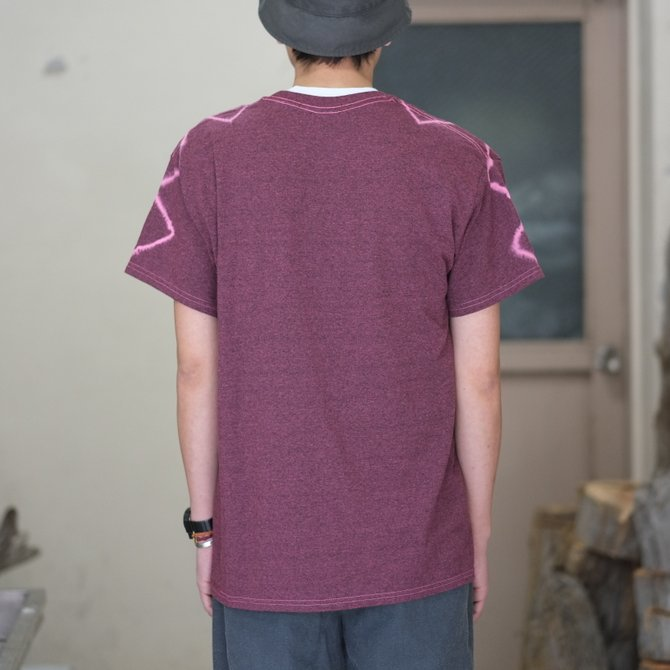 【30% off SALE】【2018 SS】7 × 7 / seven by seven ( セブン バイ セブン ) TIE-DYE T-SHIRT -PINK- #SBSS18TDTSH(8)