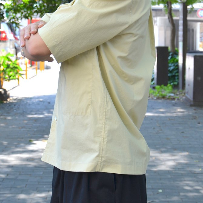 【40% OFF SALE】STUDIO NICHOLSON(スタジオニコルソン)/ OPEN COLLAR SHORT SLV SHIRT -KHAKI- #SN-280(8)