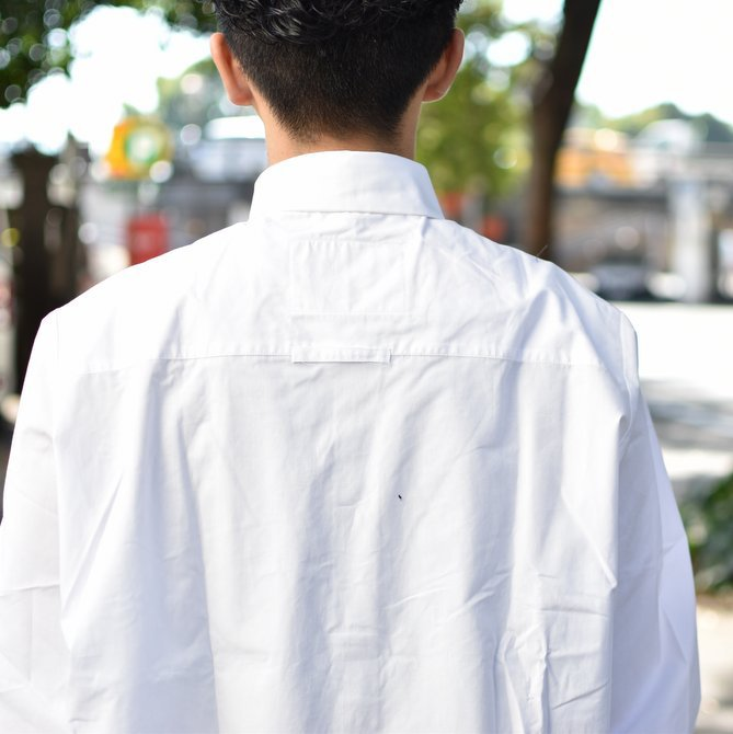 【2018 AW】 CAMIEL FORTGENS(カミエル フォートゲンス)/LONG SHIRT SHIRTING -WHITE- #CAMIEL-634(8)