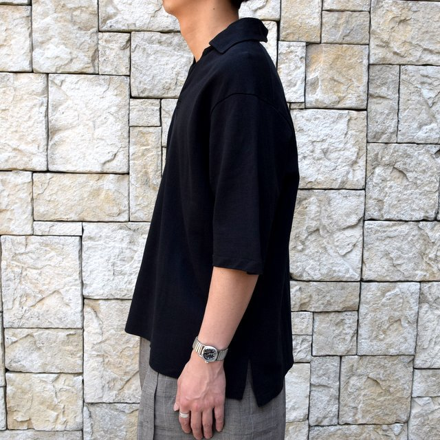【30% off sale 】KAPTAIN SUNSHINE (キャプテンサンシャイン)/ SKIPPER SHIRT  -BLACK-#KS9SCS09(8)