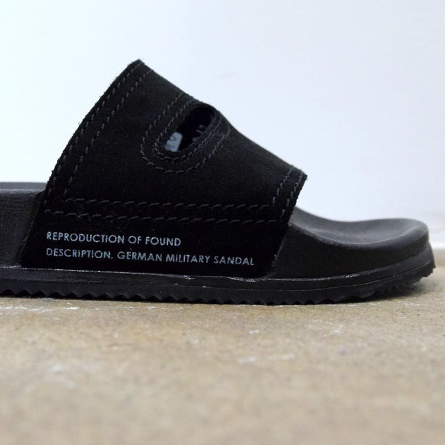 REPRODUCTION OF FOUND(リプロダクション オブ ファウンド)/ GERMAN MILITARY SANDALS -BLACK- #1738L(8)