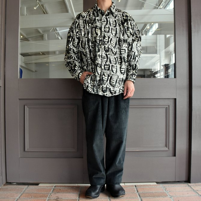 【2019 AW】AiE(エーアイイー) PAINTER SHIRT-ABSTRACT PRINT- FK469(8)