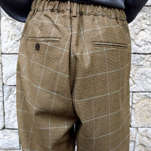 【30% OFF】is-ness(イズネス)/ COJ NU WIDE EZ PANTS -BROWN BLUE-  #30AWPT05-BR(8)