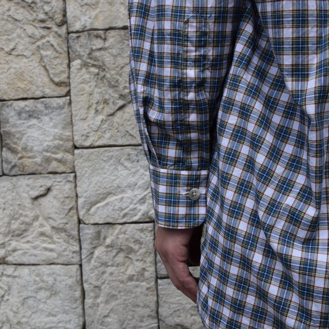 Marvine Pontiak Shirt Makers(マーヴィンポンティアックシャツメーカーズ)/TWO TONE L/S Shirt -GREEN CHECK- #MPSM-1913S(8)