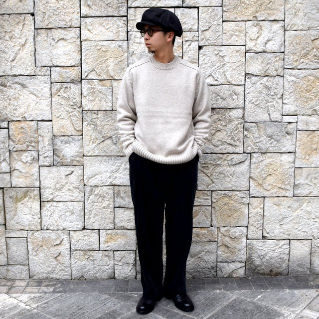 BATONER(バトナ—)/ HEAVY WEIGHT CASHMERE CREW NECK BN-19FL-044(8)