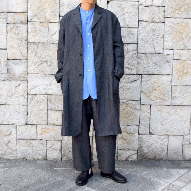 【30% off sale】【2020 SS】un unbient / COTTON WOOL ONE TUCK PANTS -CHARCOAL-#UNSP4620(8)