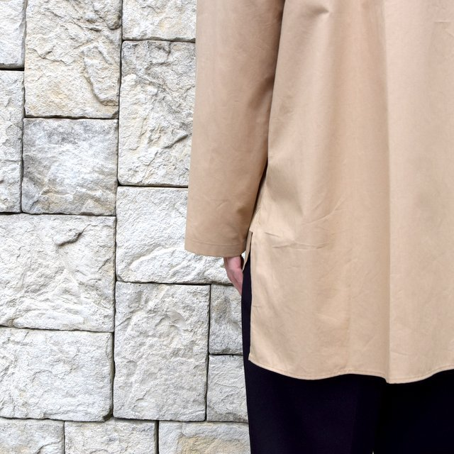 【30% off sale】【2020】blurhms(ブラームス) / Stand-up Collar Shirt L/S:LIGHT BEIGE  BHS-20SS019(8)