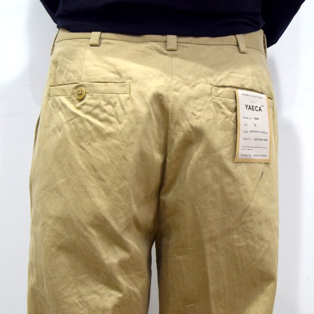 【2020】YAECA (ヤエカ)/ CHINO CLOTH PANTS CREASED -KHAKI- #10605(8)
