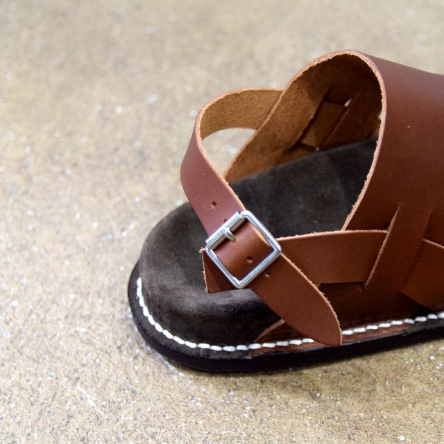 【2020 SS】KAPTAIN SUNSHINE × PHIGVEL / GURKHA FOOTBED SANDALS -BROWN- #KS20SGD06(8)