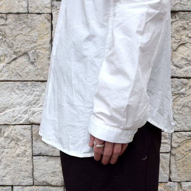 【2020】 toogood(トゥーグッド)/ THE BOTANIST SHIRT POPLIN -CHALK- (8)