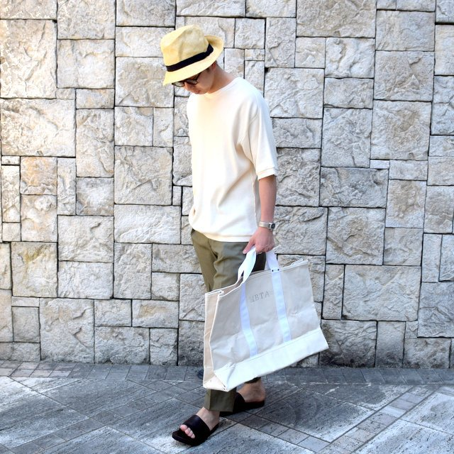 【2020 SS 】 MARKAWARE(マーカウェア)/ WAFFLE ONE SIDE RAGLAN S/S -RAW WHITE- #A20A-12CS01B(8)