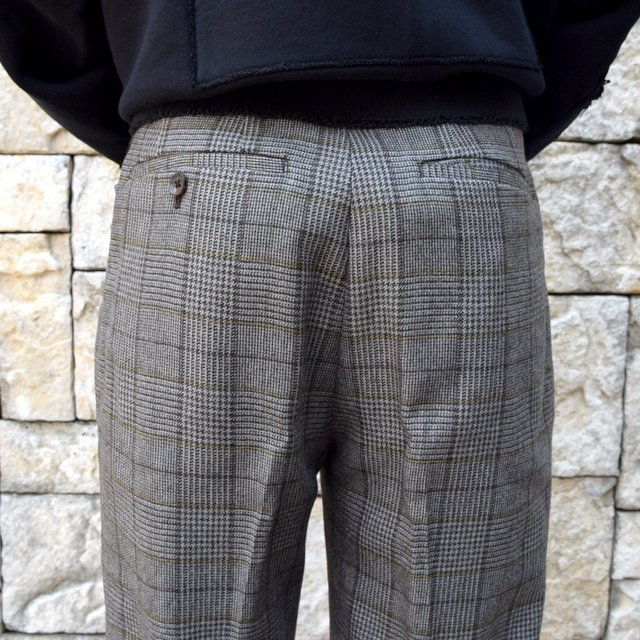【2020】stein(シュタイン)/ WIDE TAPERED TROUSERS -GLEN CHECK- #ST178-2(8)