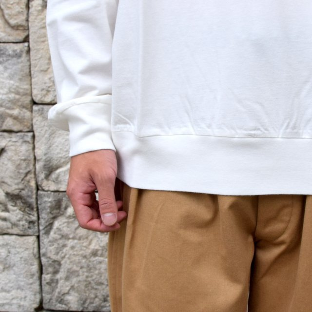 【2020】blurhms ROOTSTOCK(ブラームス) / SILK COTTON JERSEY L/S LOOSE FIT -OFF- #ROOTS-F206(8)