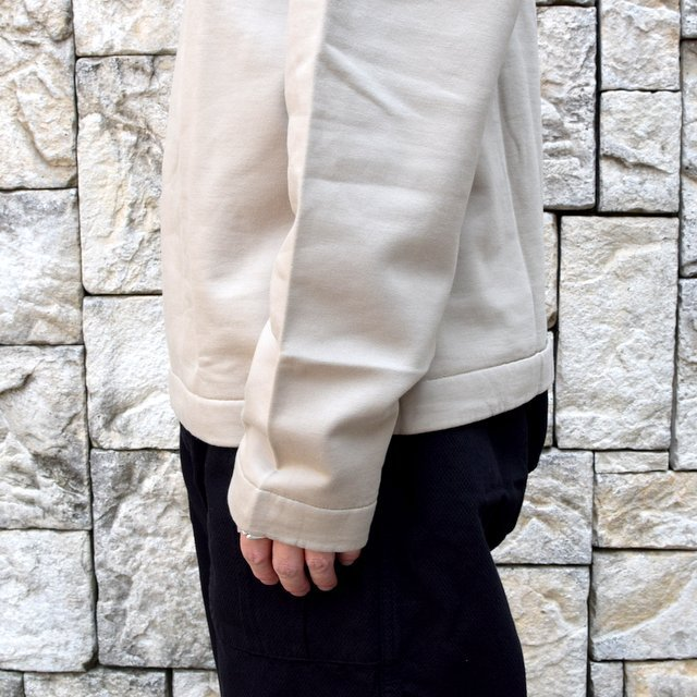 【2020】 AURALEE(オーラリー)/ ELASTIC HIGH GAUGE SWEAT HALF ZIP P/O -KHAKI GRAY- #A20AP01NU(8)