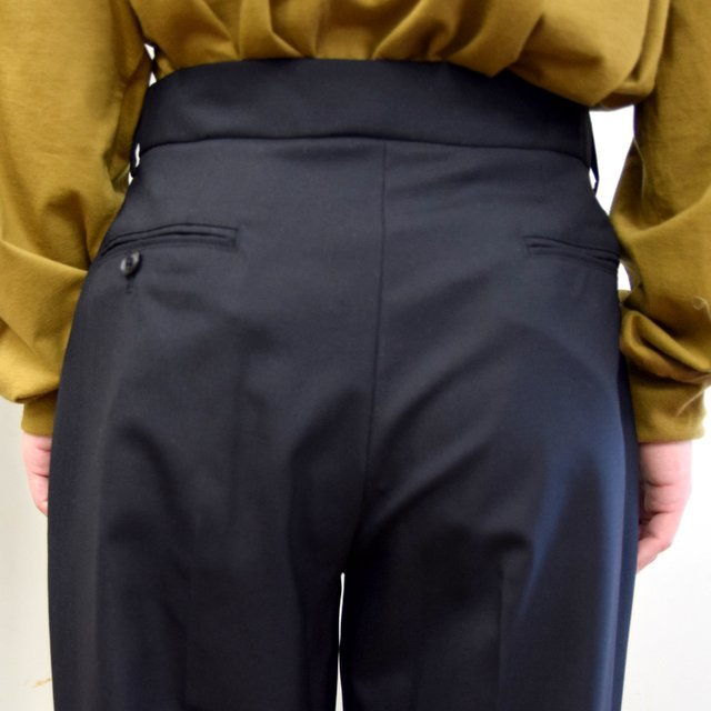 【2020】YOKE(ヨーク)/ FRONT TUCK BELTED WIDE TROUSERS -BLACK- #YK20AW0158P(8)
