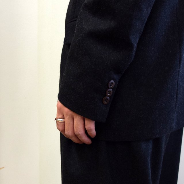 【2020】FRANK LEDER(フランクリーダー)/ LIGHT WEIGHT LODEN WOOL 2B JACKET -BLACK- #0122022(8)