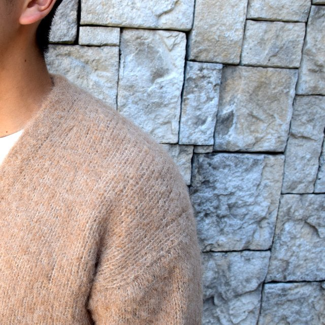 【2020】 AURALEE(オーラリー)/ ALPACA WOOL SUPER LIGHT KNIT BIG CARDIGAN -TOP BEIGE- #A20AC01AW(8)