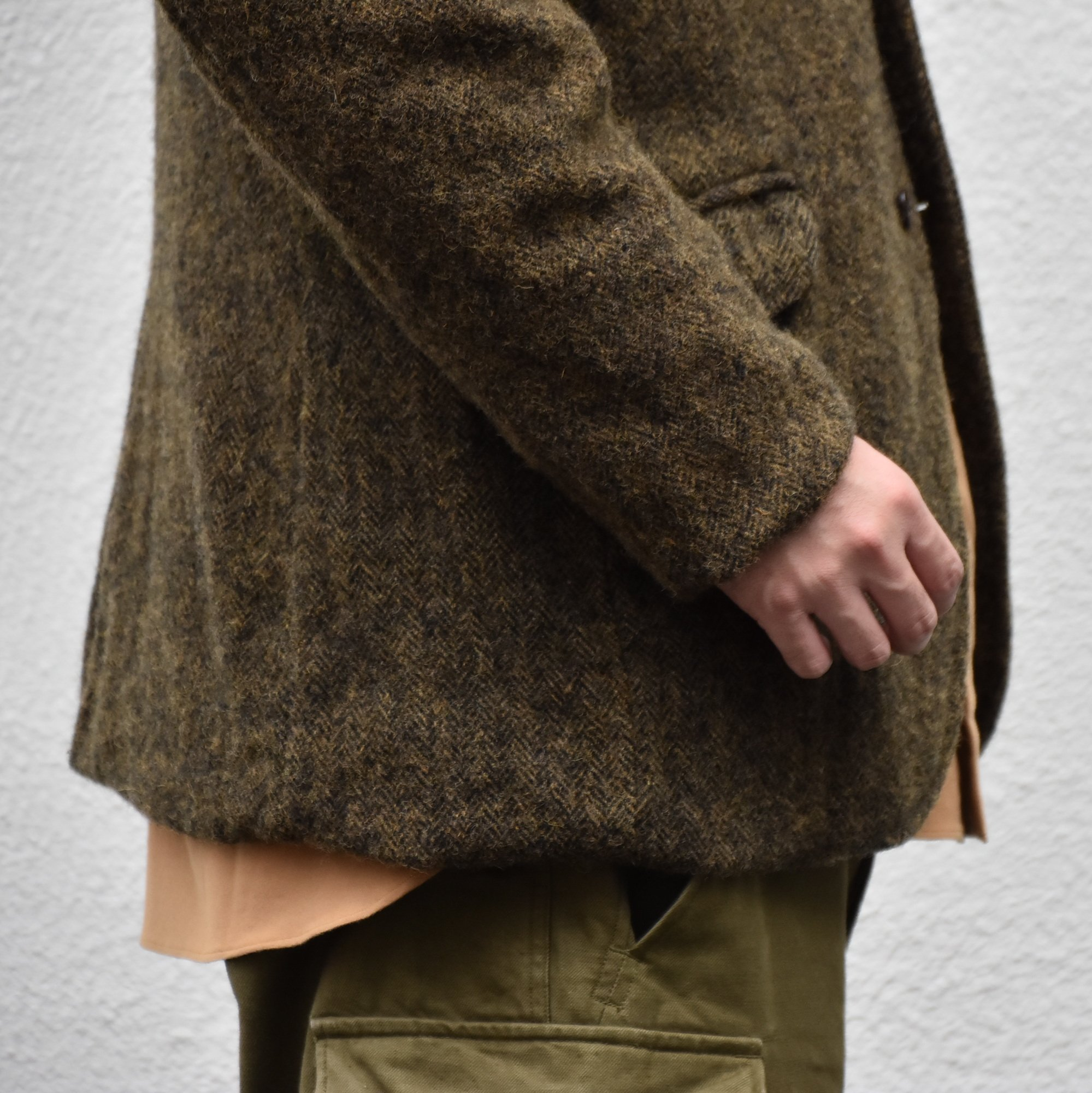 【2020】Chez Vidalenc (シェヴィダレンク)/ HARRIS TWEED JACKET-GREEN FOX- #JK01(8)