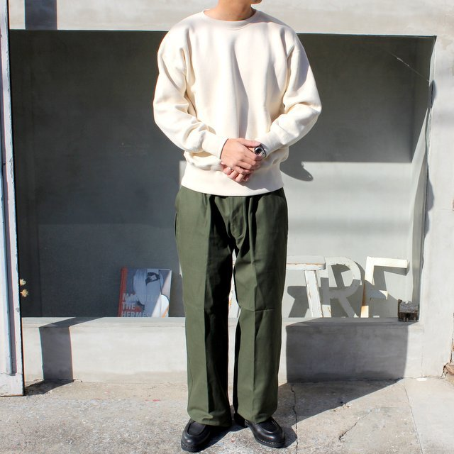 OLDE HOMESTEADER(オールドホームステッダー)/ CREW NECK LONG SLEEVE -ECRU- #EQP001(8)