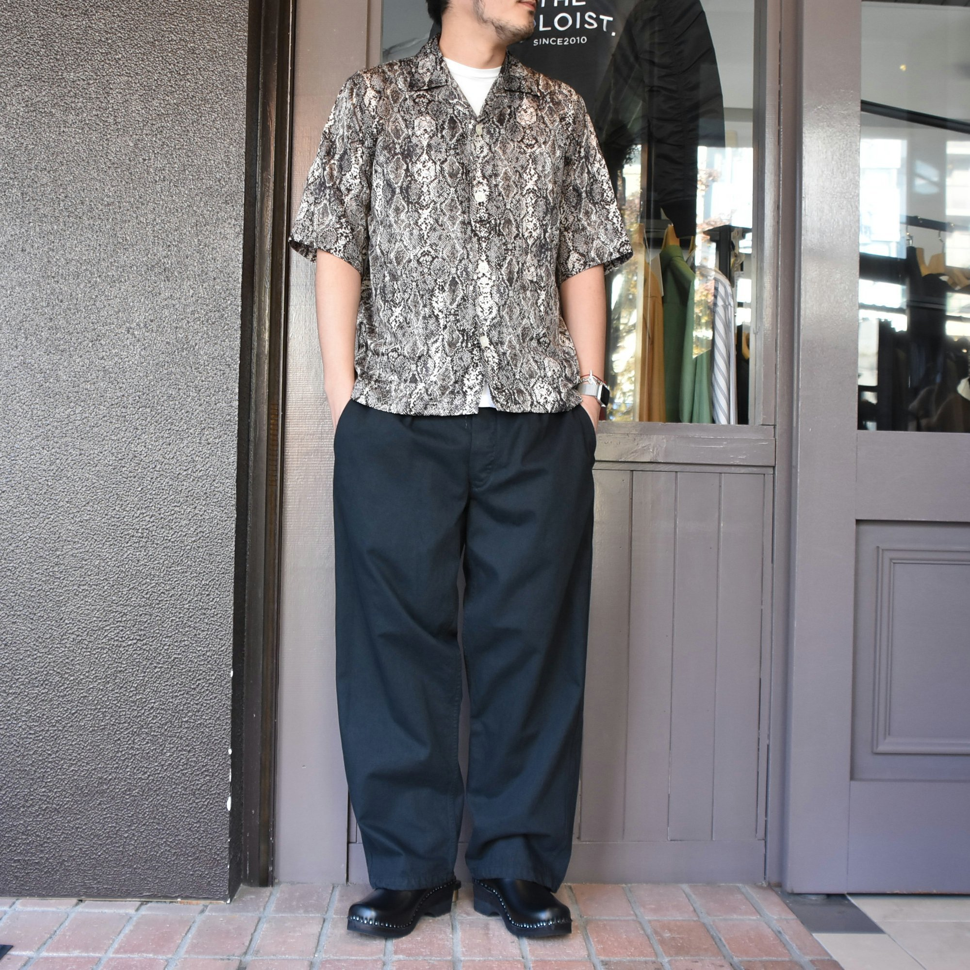 [2021]NEEDLES(ニードルス) CABANA SHIRT PYTHON PT -BLACK- #IN169(8)