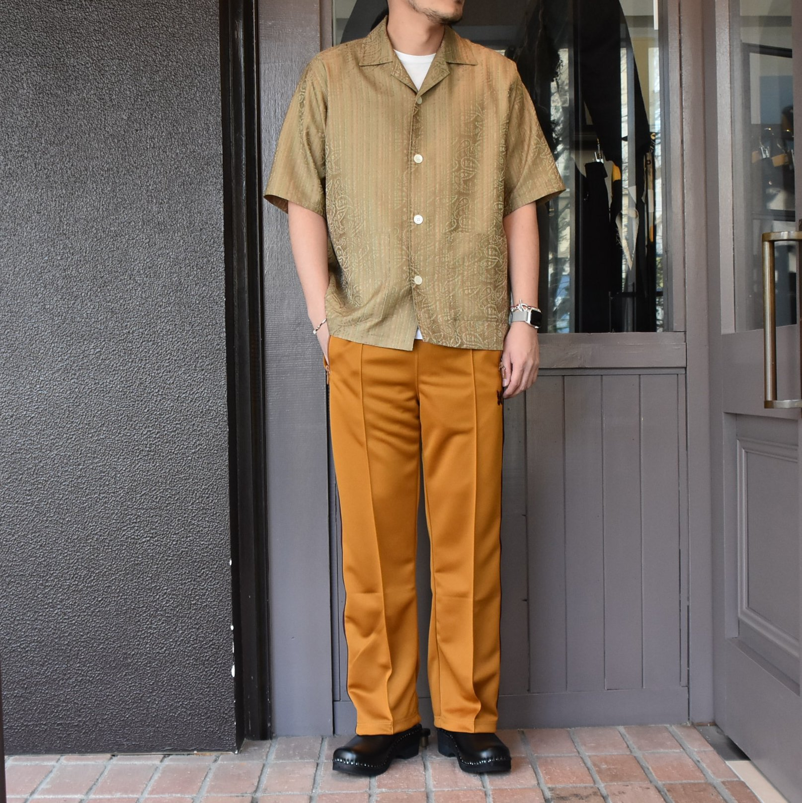 [2021]NEEDLES(ニードルス) TRACK PANT POLY SMOOTH -MUSTARD- #IN181(8)