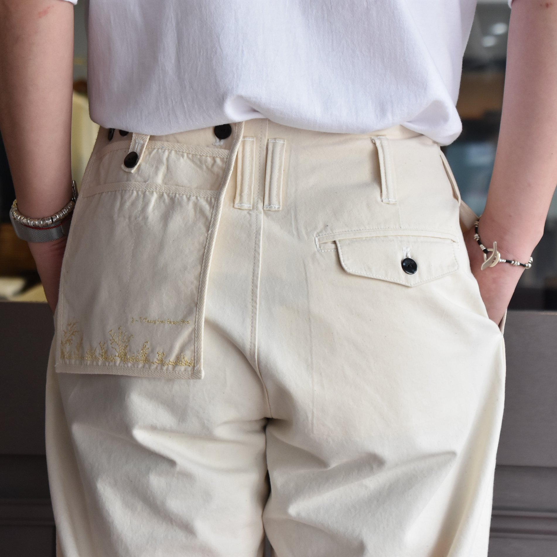 [2021]amachi.(アマチ) DetachablePocket Work Pants-Off White- #AY8-22(8)