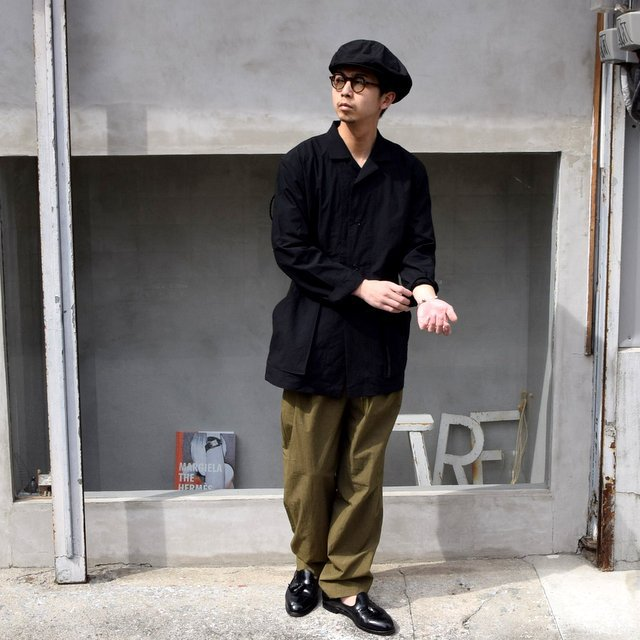 FRANK LEDER(フランクリーダー)/ 2TUCK DRAWSTRING TROUSERS WITH SEED(8)