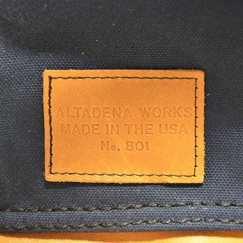 Altadena Works(アルタデナワークス) 801 Daypack(canvas) -Navy Acorn- 【Z】(9)