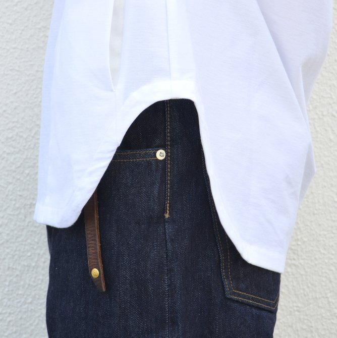 【30% OFF SALE】【17 SS】Curly(カーリー) HIGH GAUGE TWILL JERSEY -WHITE- #171-31032SD(9)