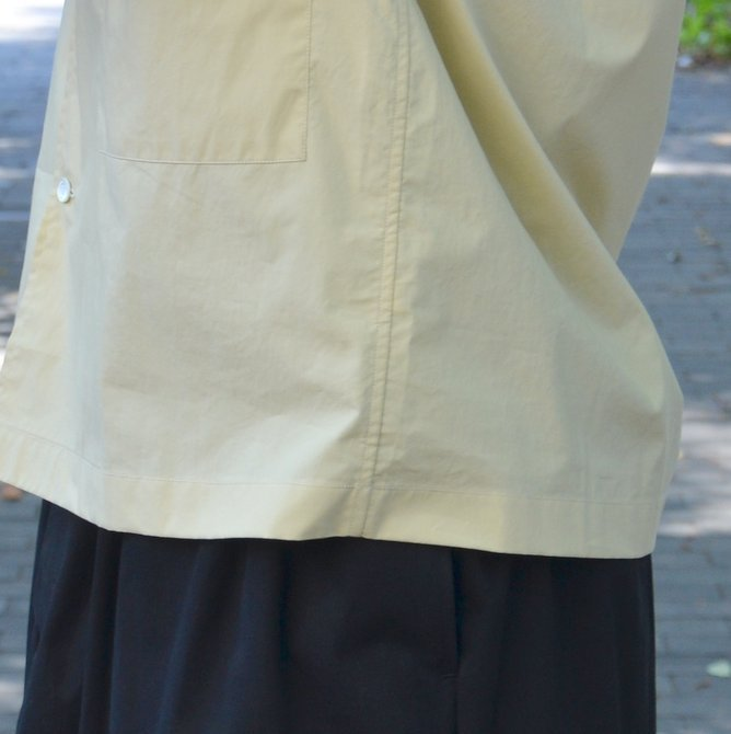【40% OFF SALE】STUDIO NICHOLSON(スタジオニコルソン)/ OPEN COLLAR SHORT SLV SHIRT -KHAKI- #SN-280(9)