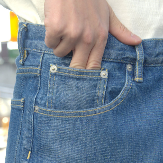【20 SS】 AURALEE(オーラリー)/ WASHED HARD TWIST DENIM 5P PANTS #LIGHT INDIGO  A20SP07DM(9)
