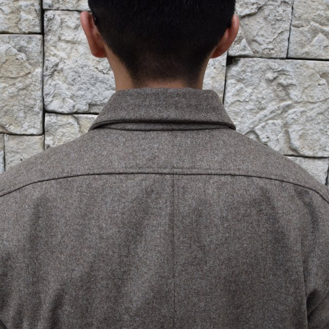【30% off sale】FRANK LEDER(フランクリーダー) /LODEN WOOL FLAP POCKET SHIRT 0726031-GR(9)