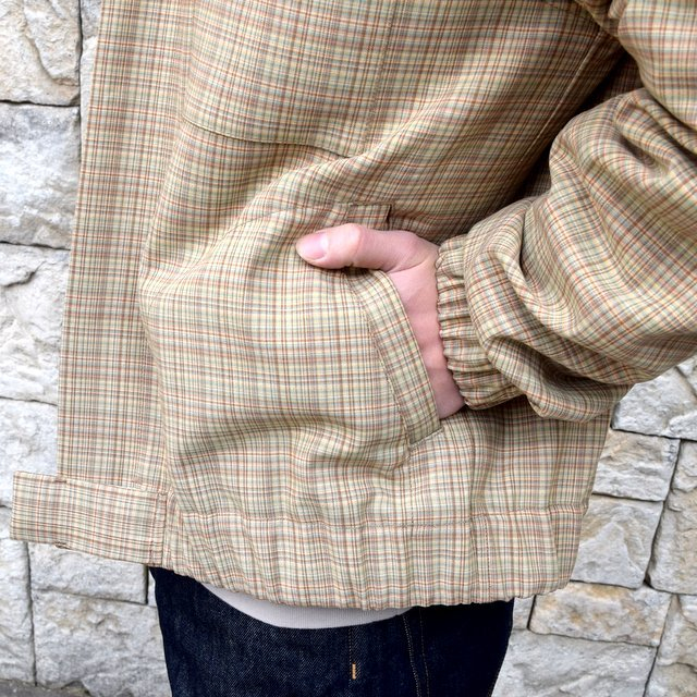 【2020 SS】 AURALEE(オーラリー)/ HARD TWIST WOOL DOUBLE FACE CHECK BLOUZON -BEIGE CHECK- #A20SB01WC(9)