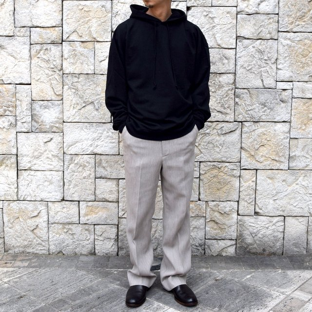 【2020 SS】AURALEE(オーラリー)/ COTTON WOOL DOUBLE CLOTH SLACKS -TOP GRAY- #A20SP02WF(9)