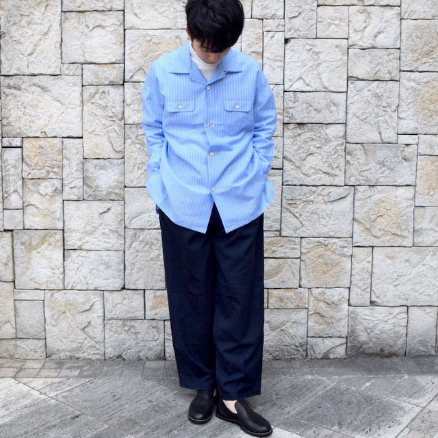 【30% off sale】【2020】MAATEE&SONS(マーティーアンドサンズ)/ ''DAVID&JOHN ANERSON'' OPEN COLLAR SHIRT -2色展開- #MT0103-0607A(9)