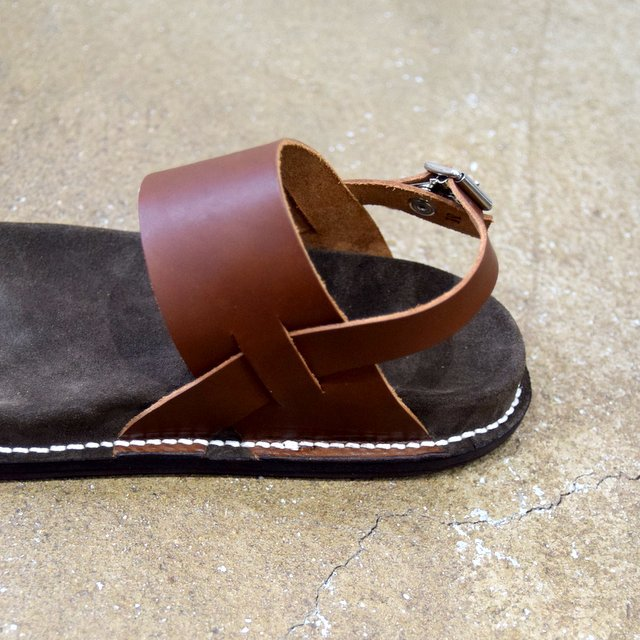 【2020 SS】KAPTAIN SUNSHINE × PHIGVEL / GURKHA FOOTBED SANDALS -BROWN- #KS20SGD06(9)