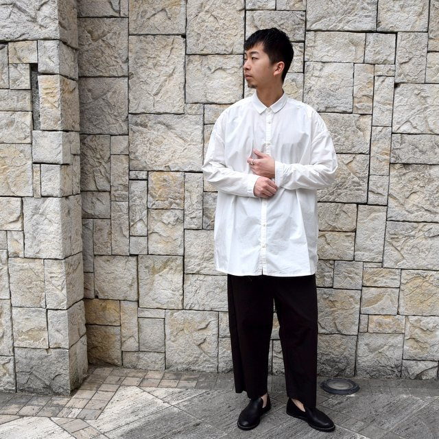 【2020】 toogood(トゥーグッド)/ THE DRAUGHTSMAN SHIRT POPLIN -CHALK- (9)