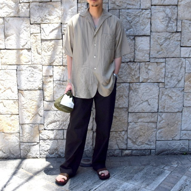 【30% off sale】【2020】KAPTAIN SUNSHINE (キャプテンサンシャイン)/ RIVIERA S/S SHIRT -KHAKI- #KS20SSH04(9)