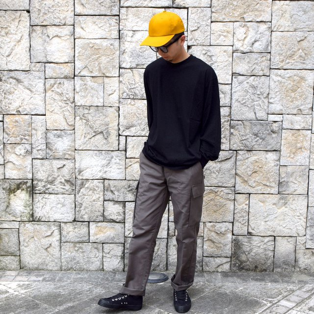 【2020】blurhms ROOTSTOCK(ブラームス) / SILK COTTON JERSEY L/S LOOSE FIT -BLACK- #ROOTS-F206(9)
