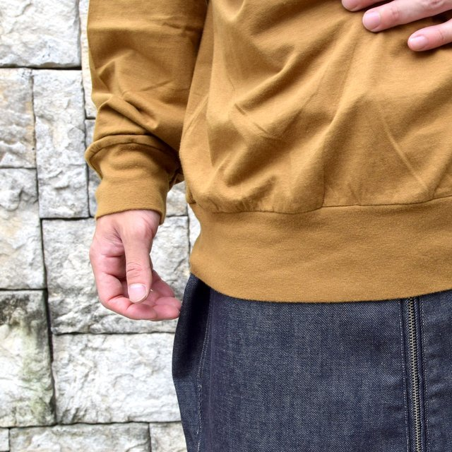 【2020】blurhms ROOTSTOCK(ブラームス) / SILK COTTON JERSEY L/S LOOSE FIT -CAMEL- #ROOTS-F206(9)