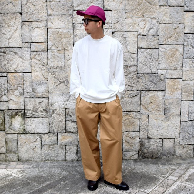 【2020】blurhms ROOTSTOCK(ブラームス) / SILK COTTON JERSEY L/S LOOSE FIT -OFF- #ROOTS-F206(9)